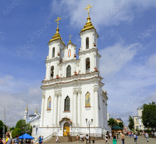 Church of the Resurrection of Christ on the Market Square in Vitebsk Canvas Print