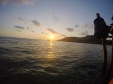 Sunset Over Sea