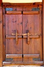 Closed Wooden Doors