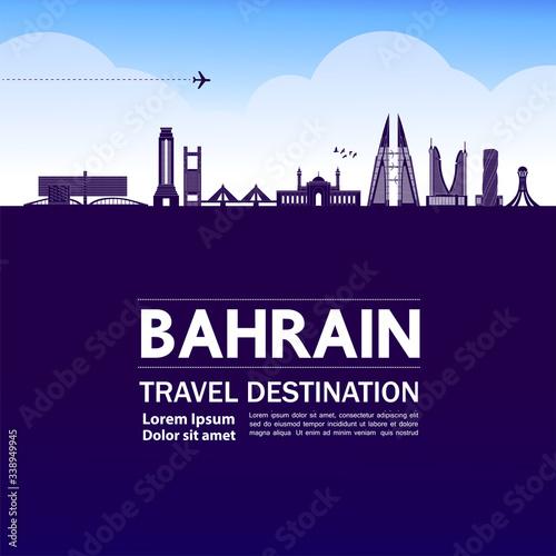 Bahrain travel destination grand vector illustration. Canvas Print