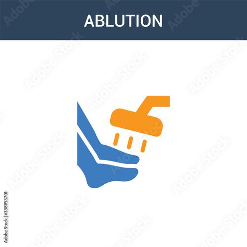two colored ablution concept vector icon Canvas Print