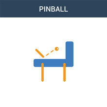Two Colored Pinball Concept Ve...