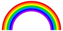Rainbow In Flat Style. Colorfu...