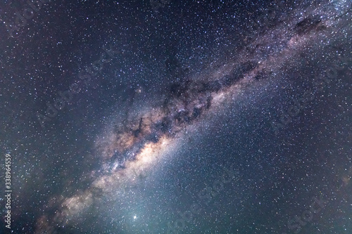 Canvastavla Milky Way Night Sky