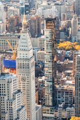 Fototapeta Nowy York Aerial view of city buildings in Manhattan, New York City, USA
