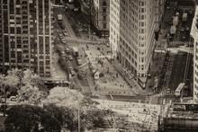 Aerial View Of Flatiron Building And Madison Square Park, Manhattan, New York City, USA