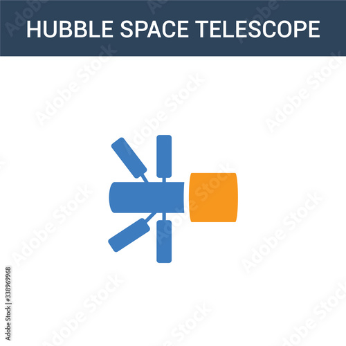 Fototapeta two colored Hubble space telescope concept vector icon