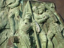 Sculptures Of Army Soldiers At...