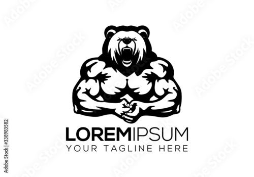 Photo african, animal,sports, strong, vector,muscles, musle,fit, gym,lifting, logo,