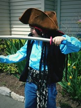 Close-up Of Girl In Pirate Costume