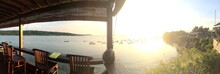 Panoramic View Of Scenic Sunset