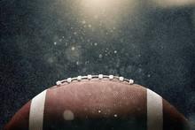American Football Ball On Blac...