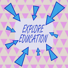 Text Sign Showing Explore Educ...