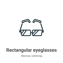 Rectangular Eyeglasses Outline...