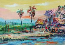 Oil Painting  Thailand Art