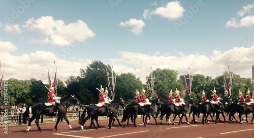 Fotografiet Cavalry Against Sky