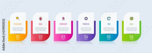 Concept of arrow business model with 6 successive isometric steps Canvas-taulu