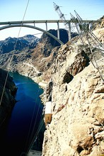 High Angle View Of Hoover Dam Over Colorado River