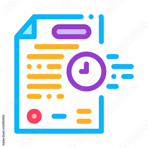 Photo adjournment of trial date icon vector