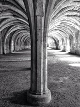 Interior Of Fountains Abbey