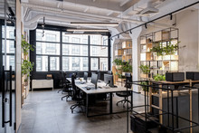 Modern Loft Office Interior Wi...