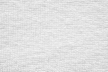 Closeup White Cotton Towel Tex...