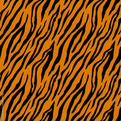 Fototapeta premium Wzór w paski tygrysa. Nadruk zwierzęcy.