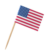 Small Paper American Flag On W...
