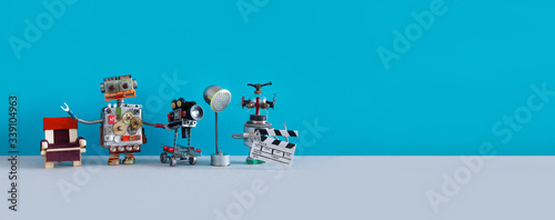 Fototapeta Robotic filmmaking backstage concept