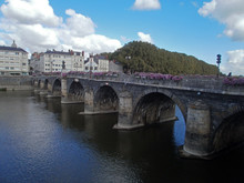 Angers, France - September 15th 2012 : View Of The Bridge Of Verdun, In The City Center (Angers Is Cut In Two Part By The River La Maine).