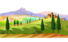 Horizontal Italian Landscape W...