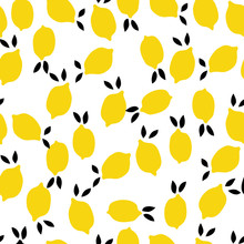 Seamless Pattern, Lemon Art Su...