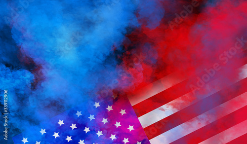 Tablou Canvas flag USA background design for independence, veterans, labor, memorial day