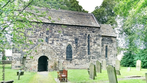 Anglo-saxon Church And Cemetery Wallpaper Mural