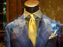 Close-up Of Mannequin With Clothes On Display