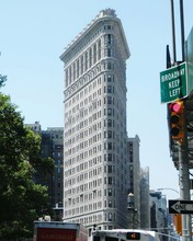 Flatiron Building Against Clear Sky In City