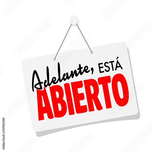 Valokuva Adelante está abierto