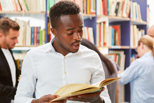 African Man Is Learning For Naturalization Test