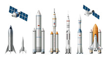 Rocket Spacecrafts Realistic Set