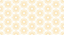Sun Seamless Pattern With Line...
