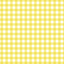 Seamless Yellow Gingham Check ...
