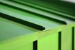 Leinwanddruck Bild - green plastic pipes on the roof