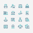 Lawyer and business vector icon set