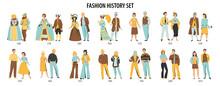 Fashion History Characters Set