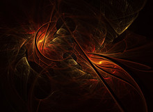Abstract Digital Fractal Color...