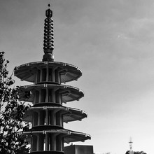 Low Angle View Of Peace Pagoda...