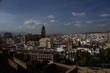 top view of Malaga from Gibralfaro castle