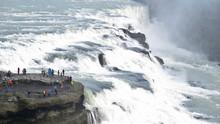 People Visit The Gullfoss Wate...