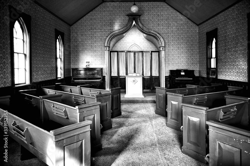 Fototapeta Interior Of Old Historic Church obraz
