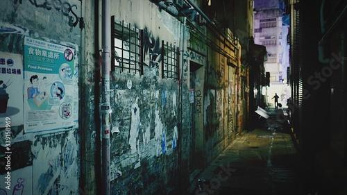 Stampa su Tela Narrow Back Alley At Night